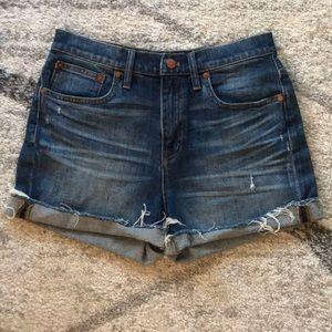 Madewell High-waisted Cuffed Jean Shorts